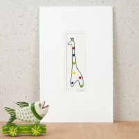 Giraffe with Spots Print