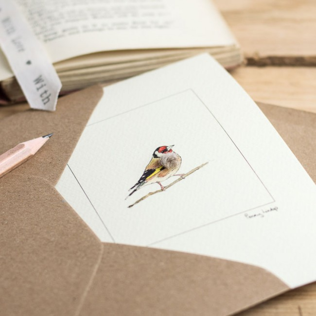 Goldfinch Bird Card