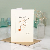 Robin Thank You Card