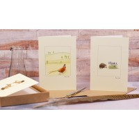 Boxed set of 5 British wildlife greeting cards