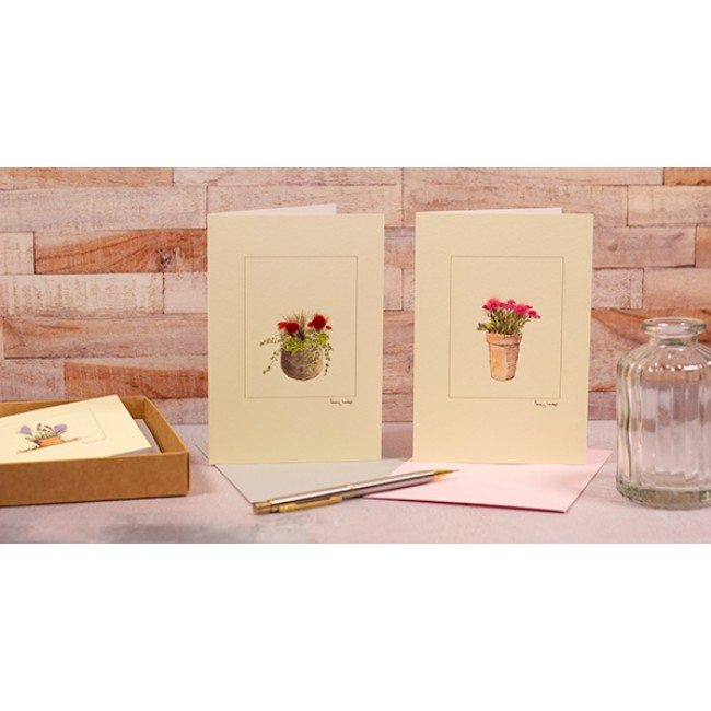 Boxed set of 5 Flower Greeting Cards