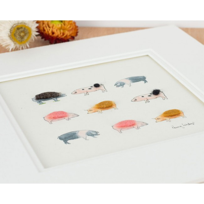 Pigs Print - Britain's Ancient Breeds