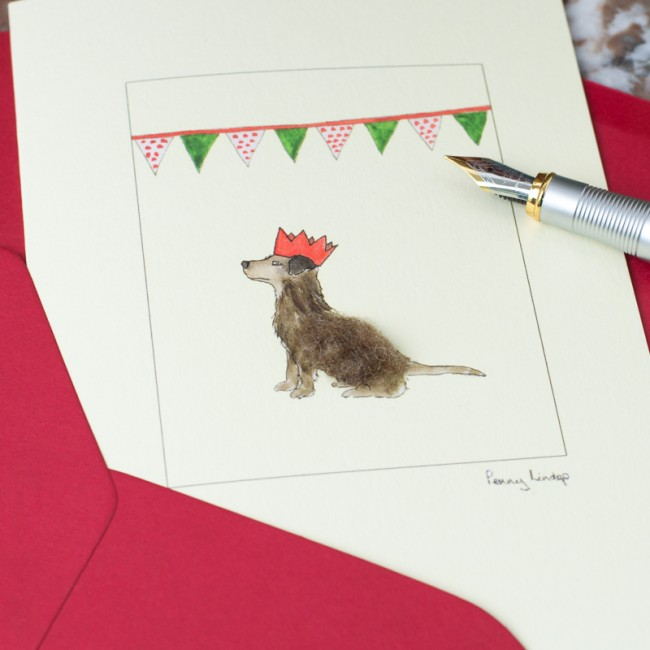 Party Dog Christmas Card