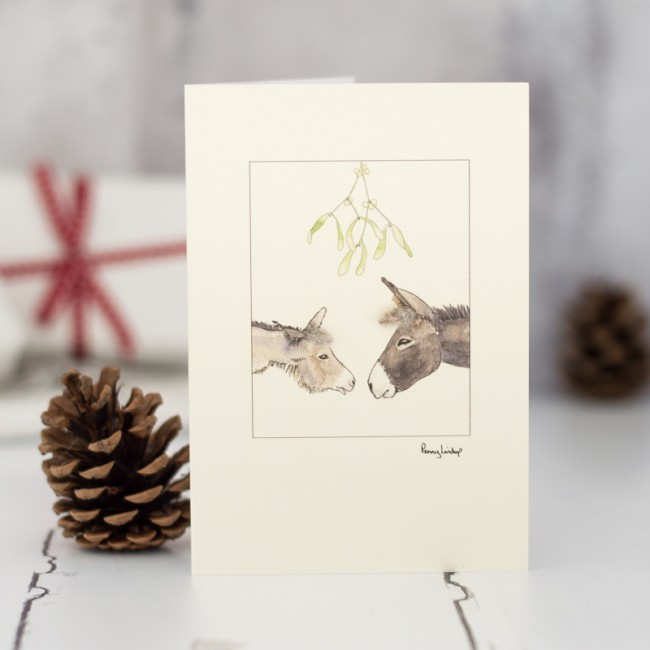Donkey Christmas card