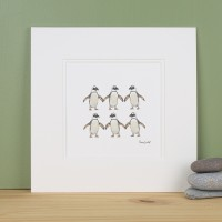 Penguins jackass penguins Print