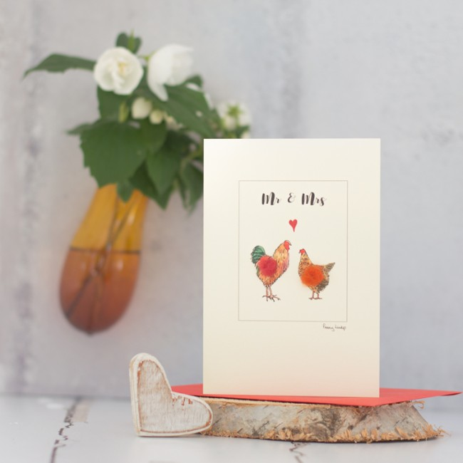 Chicken Mr & Mrs card