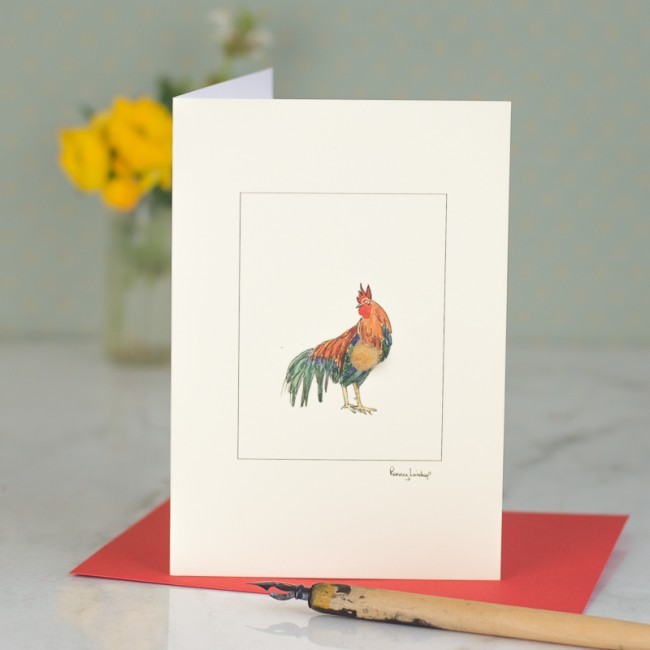 Chicken Card - Cockerel