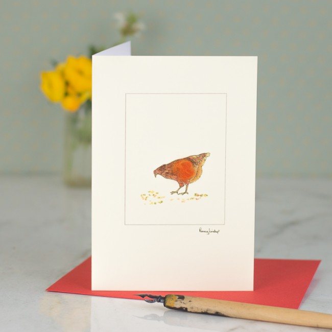 Chicken Card - Little Red Hen