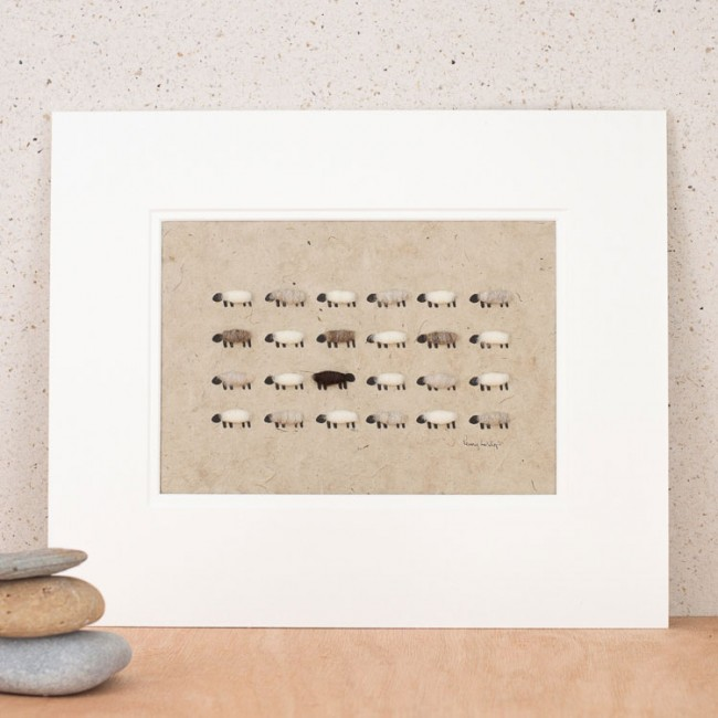 Natural Flock of Sheep Print