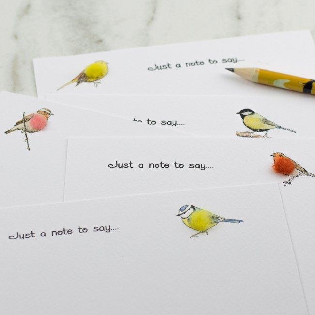 Garden Bird Notecards, boxed set of 10