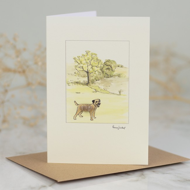Border Terrier In The Countryside Card