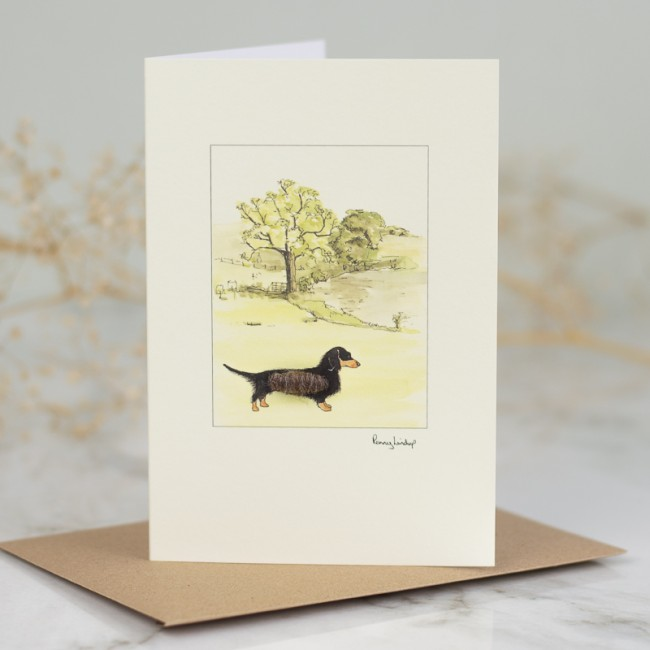 Dachshund In The Countryside Card