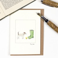 Jack Russell & Wellies Card