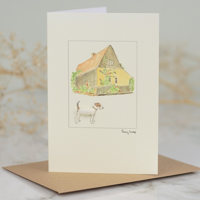 Jack Russell & Barn Card