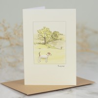 Jack Russell In The Countryside Card