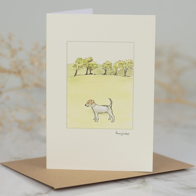 Jack Russell & Trees Card