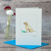 Italian Spinone with Toy Card
