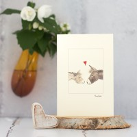 Donkey in love card