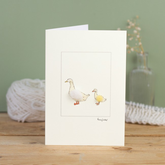 Duck Card - Aylesbury Duck and Duckling