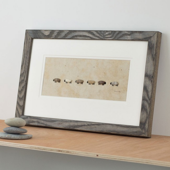Black Sheep In The Family Woolly Sheep Print - All in a Row
