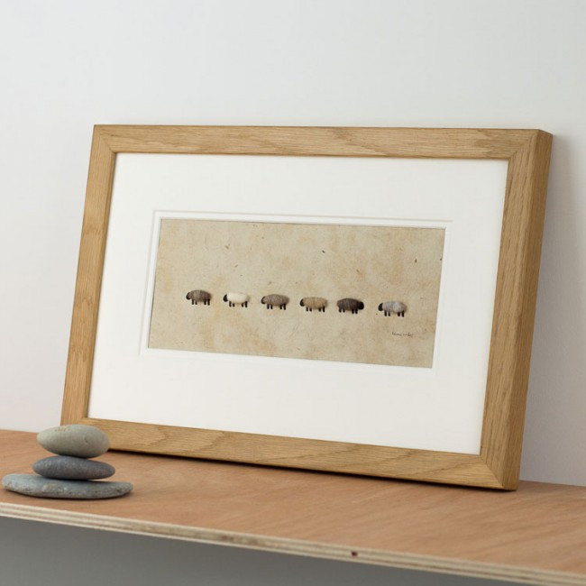 Natural Sheep Print - all in a row