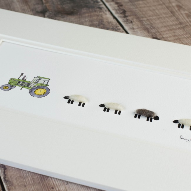 John Deere and Woolly Sheep Print - Medium