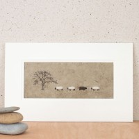 Sheep And Tree Print
