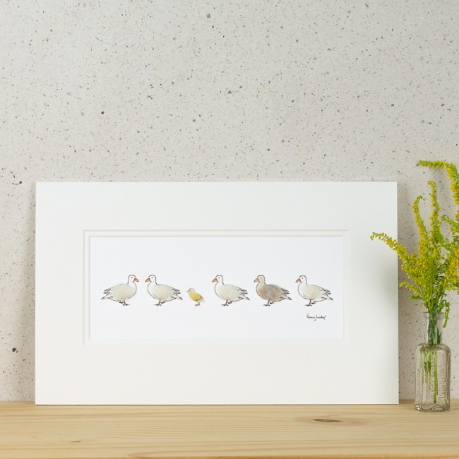 Ducks and duckling Print