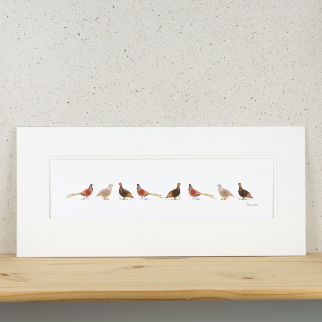 Game Birds Print - Long
