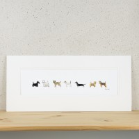 Dogs Print - Lots of Dogs - Long