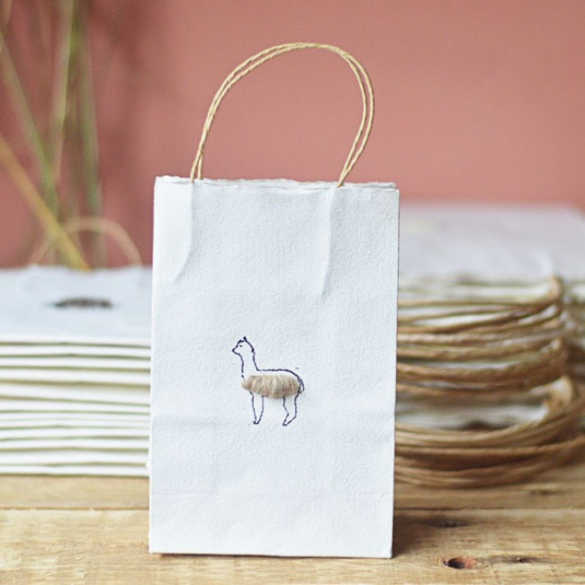 Alpaca Gift Bag, in 2 sizes