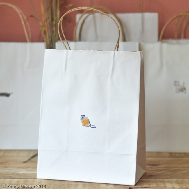 Cat Gift Bag, in 2 sizes