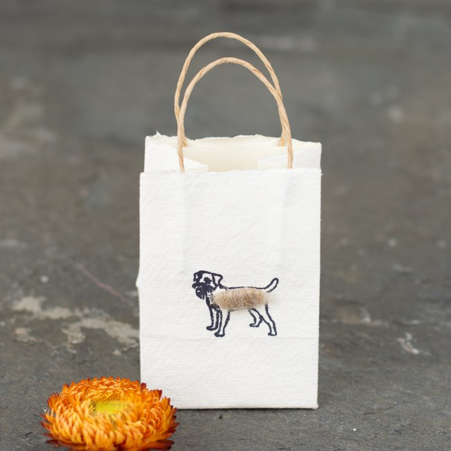 Border terrier tiny gift bags - Pack of 6