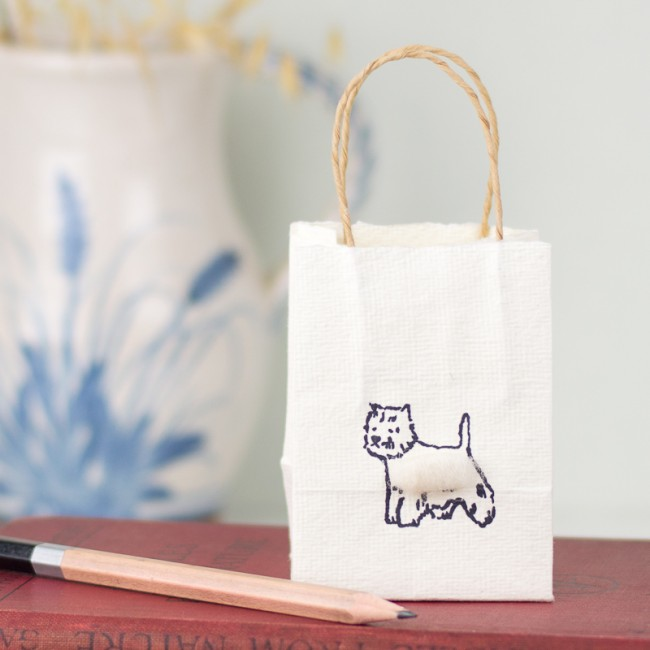 Westie tiny gift bags - Pack of 6