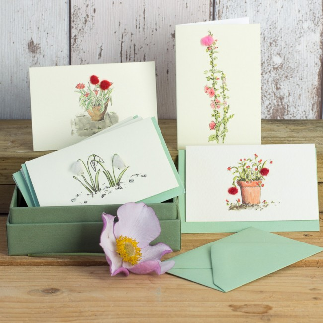 Boxed Collection of Flower Gift Cards - 8 cards