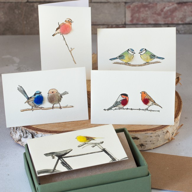 Boxed Collection of Bird Gift Cards - 8 cards