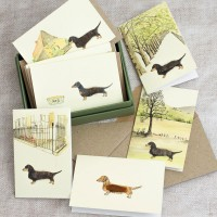 Boxed Collection of Dachshund Gift Cards - 8 cards