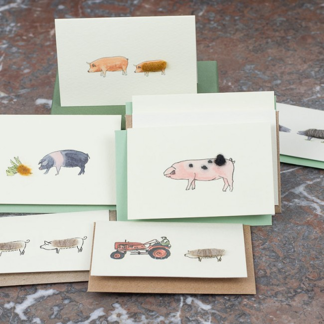 Boxed Collection of Pig Gift Cards - 8 cards