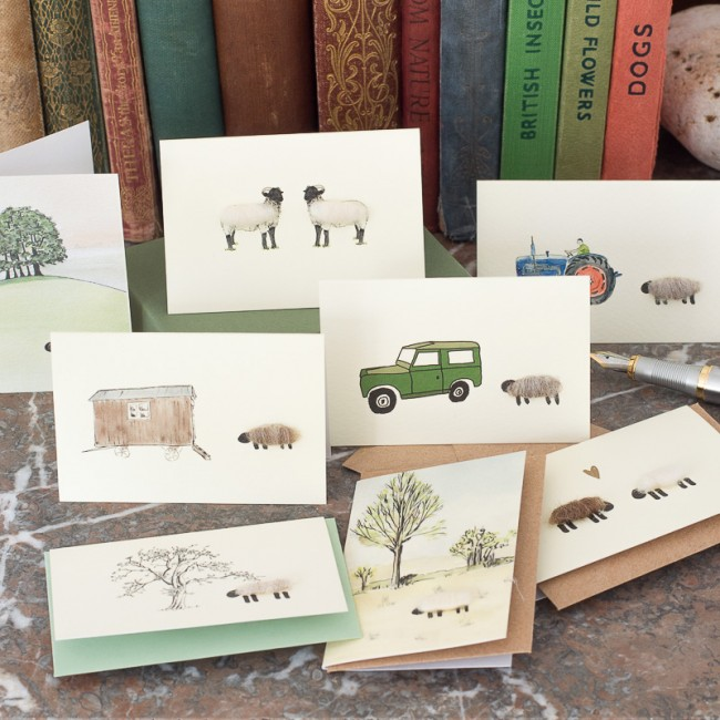 Boxed Collection of Sheep Gift Cards - 8 cards