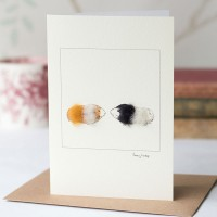 Guinea pigs card, ginger and black