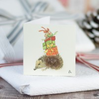 Christmas Gift Tags, Hedgehog, pack of 4