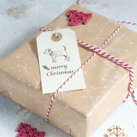 Christmas Gift Tags with Jack Russell terriers, pack of 6