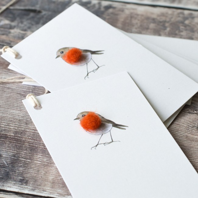 Gift Tags with robin, pack of 6