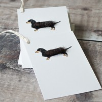Gift Tags with Dachshund, pack of 6