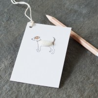 Gift Tags with Jack Russell , pack of 6