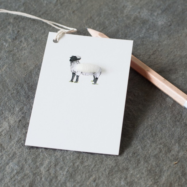 Gift Tags with a woolly sheep, pack of 6