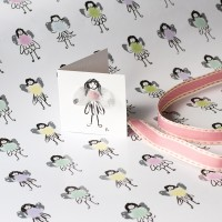 Gift wrap and tag- Fairies