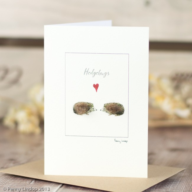 'Hedgehugs' Greetings card