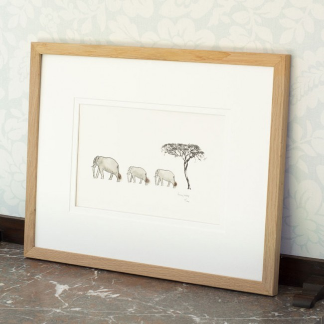 Elephant and Acacia Tree Limited Edition Print