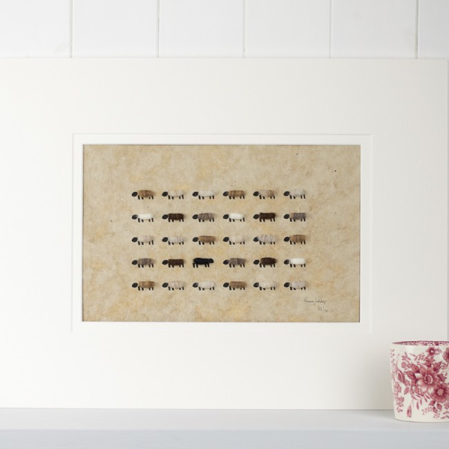 Limited Edition Print Of 30 Sheep